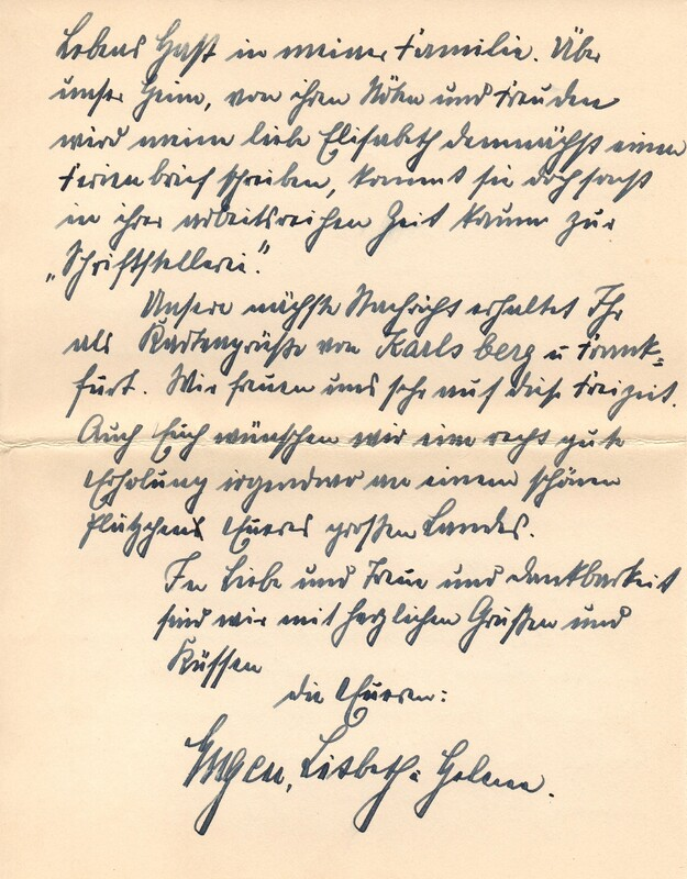 Eugen and Lisbeth Haas to Eugen Klee, April 3, 1927, p. 6