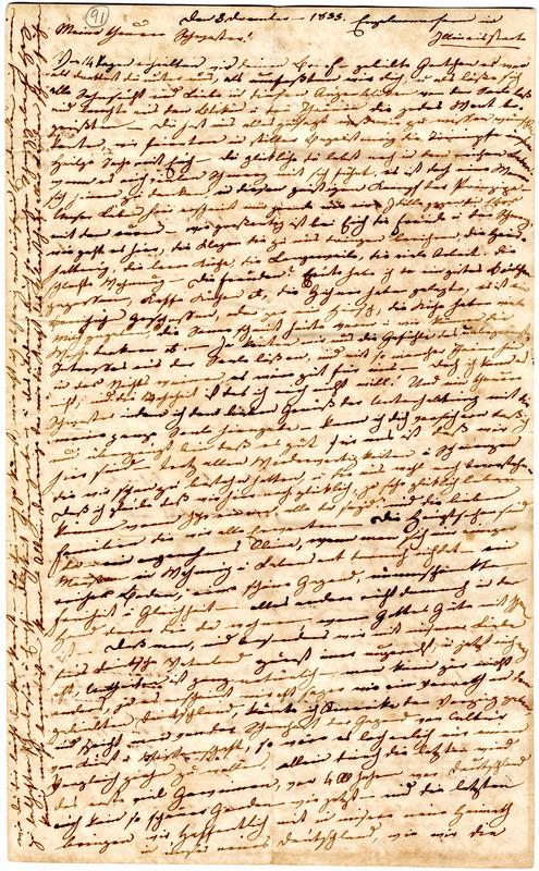 Charlotte Engelmann to Margarethe Hilgard, December 3, 1833, p. 1