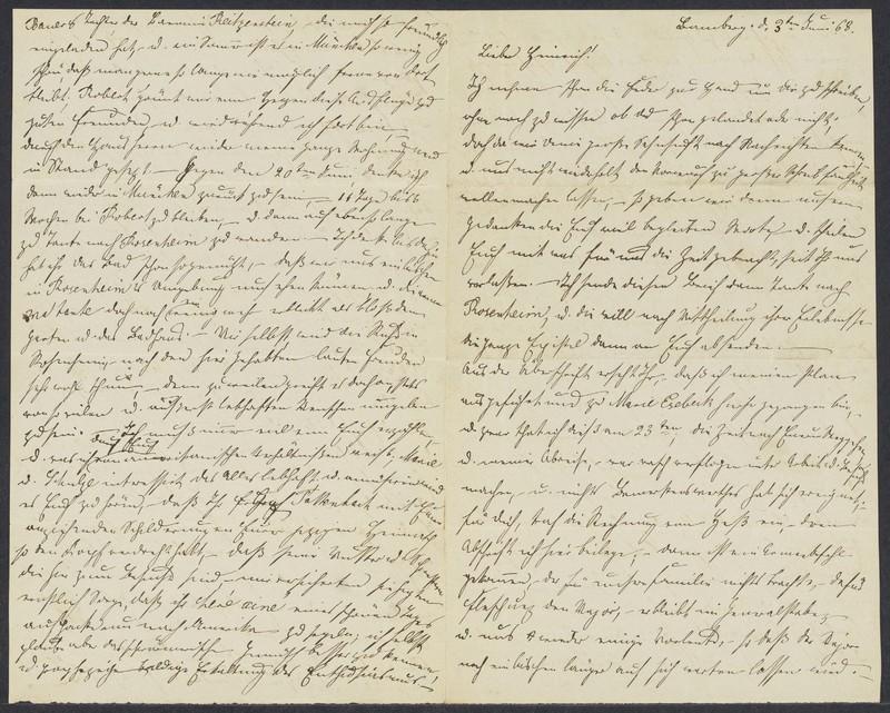 Emma Hilgard (von Xylander) to Henry Villard, June 3, 1868