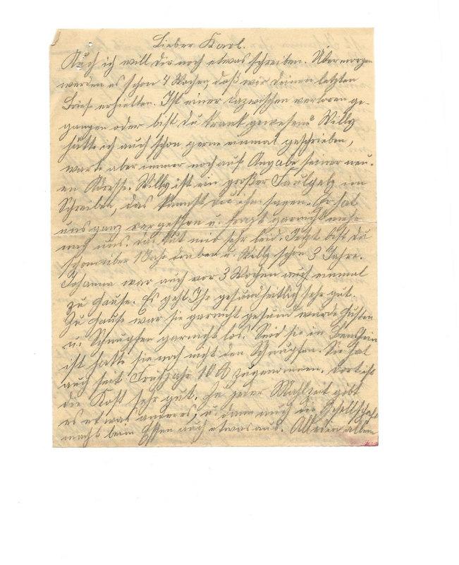 Caroline and Wilhelm Emmel to Karl Emmel, November 5, 1926, p. 5