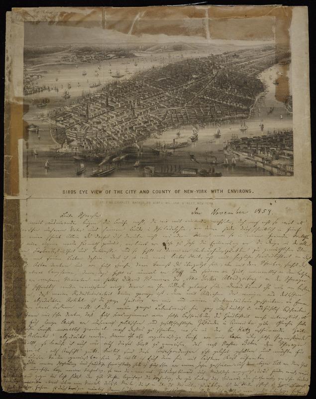 Hermann Raster to Sophie Raster, May 22, 1855