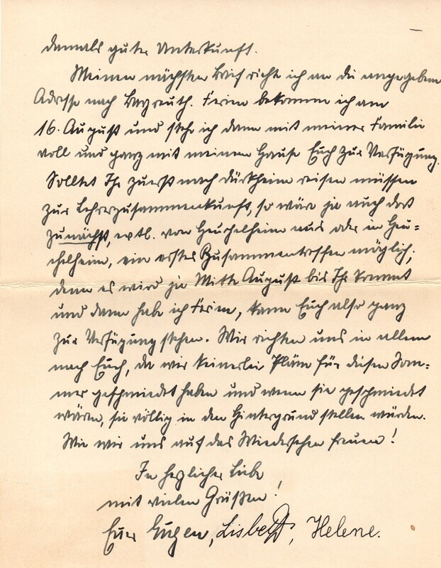 Eugen and Lisbeth Haas to Eugen Klee, July 23, 1928, p. 6