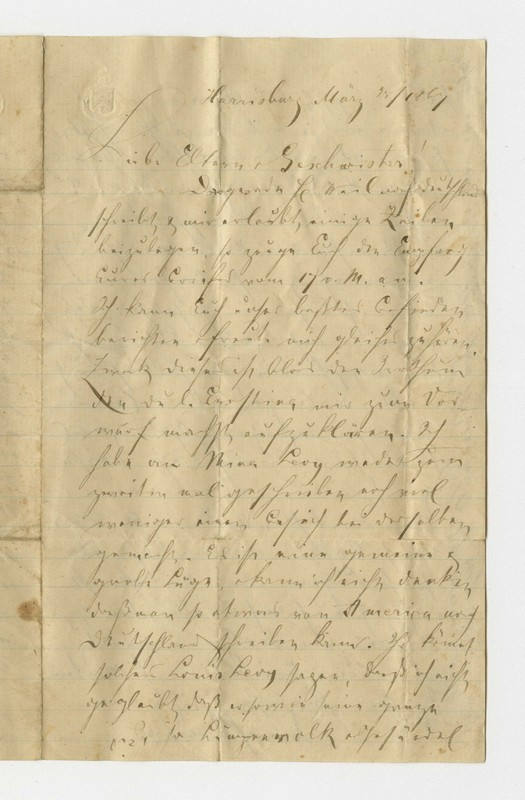 Schweitzer family letter, March 25, 1867