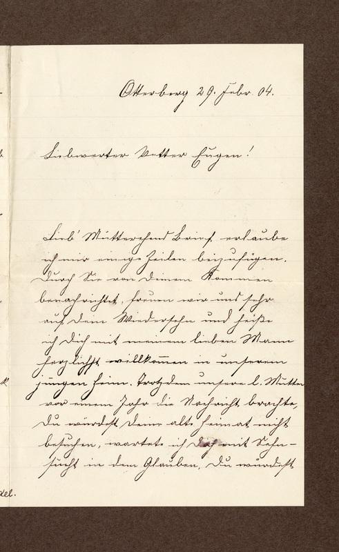 Klee family letter, February 29, 1904, p. 1