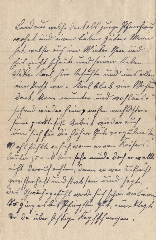 Lenchen Cherdron to Eugen Klee, July 14, 1922, p. 4