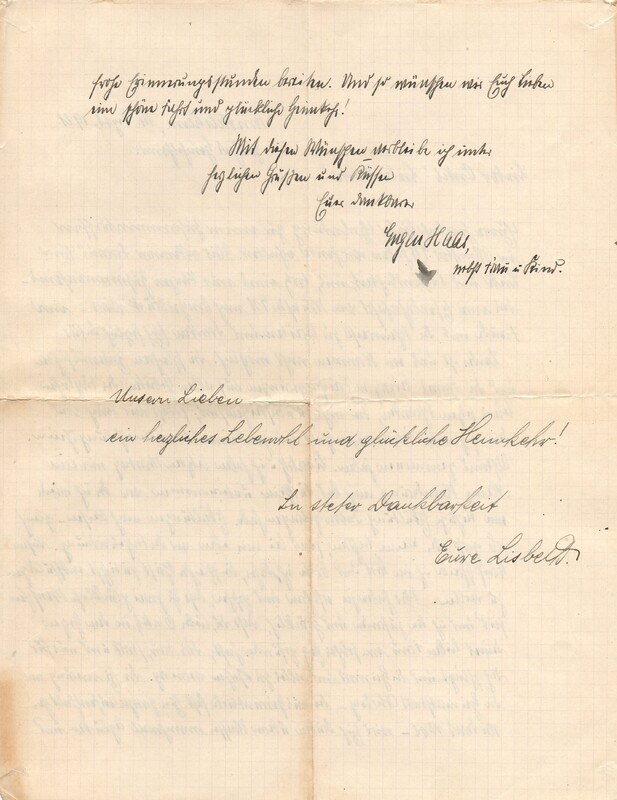 Eugen and Lisbeth Haas to Eugen Klee, September 14, 1921, p. 2