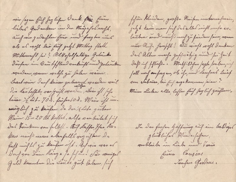 Lenchen Cherdron to Eugen Klee, April, 1920, p. 10 and p. 11