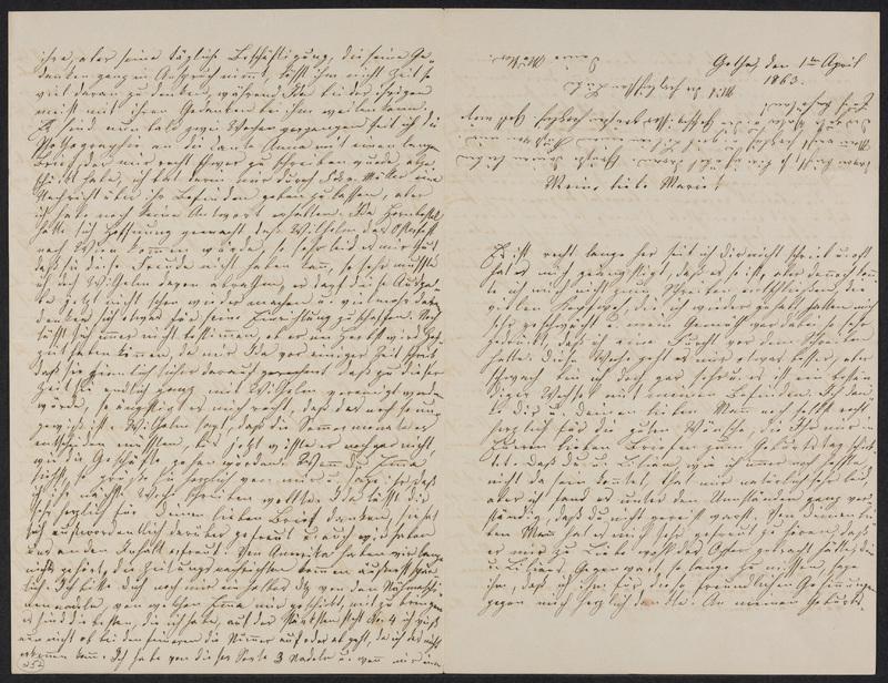 Lina Hansen to Marie Hansen Taylor, April 1, 1863