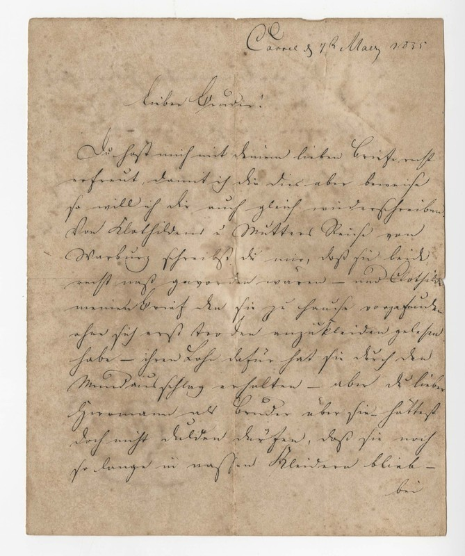 Crede family letter, May 7, 1835