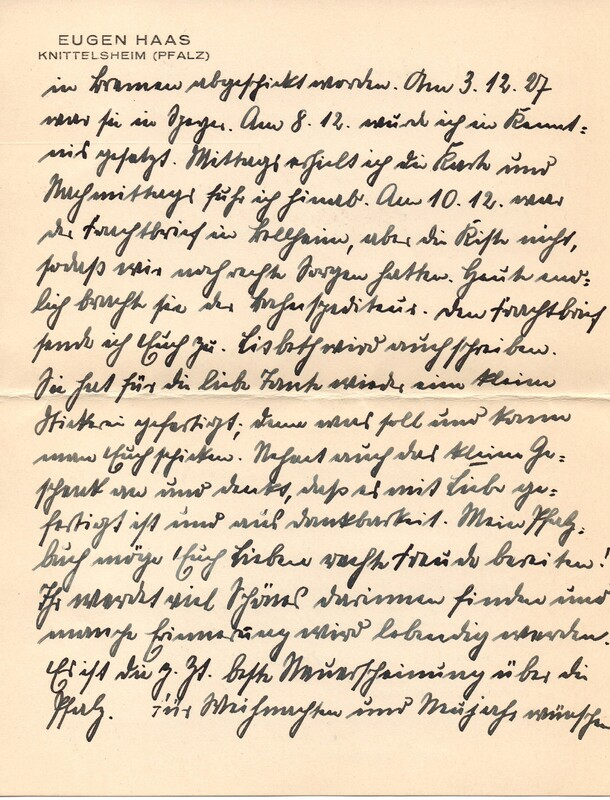 Eugen and Lisbeth Haas to Eugen Klee, December 15, 1927, p. 5