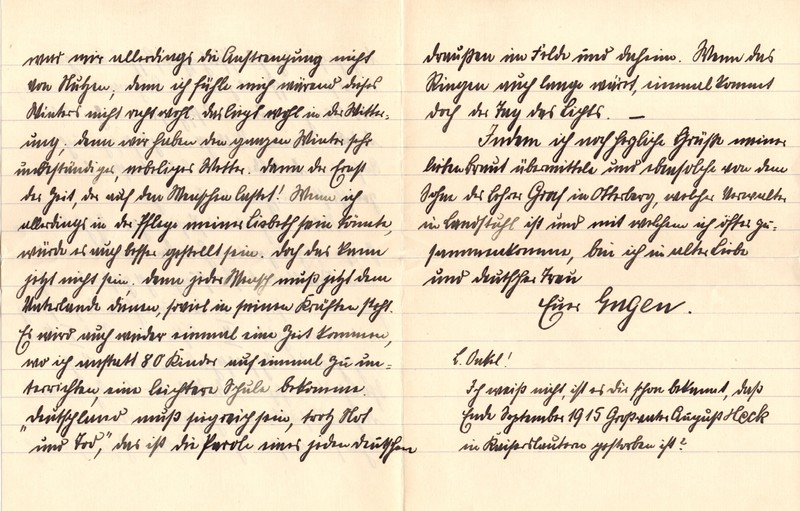 Eugen Haas to Eugen Klee, January 29, 1916, page 5