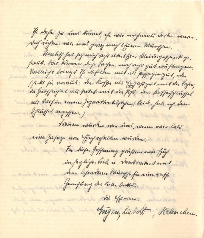 Eugen and Lisbeth Haas to Eugen Klee, July 13, 1925, p. 4