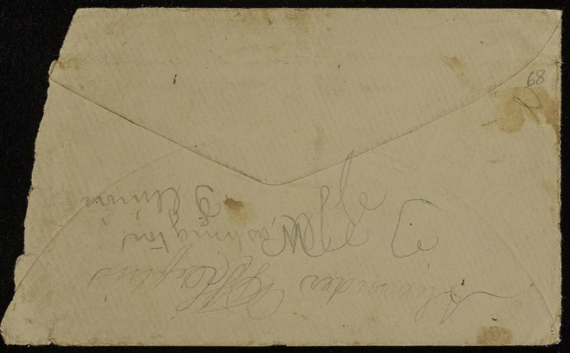 Höfeln family letter, March 24, 1868, envelope, back