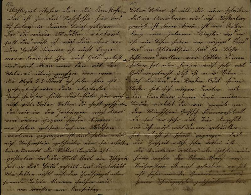 Schulz family letter, June 22, 1890, page 2 [left-hand] and page 3 [right-hand]