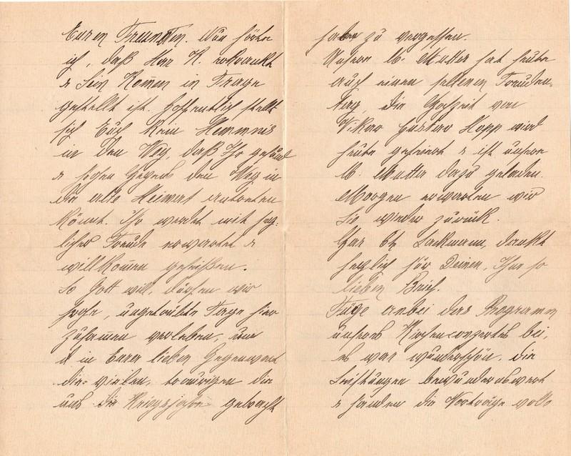 Mathilde Rettig to Eugen Klee, June 9, 1921, p. 2 and p. 3