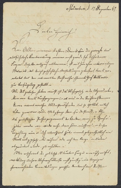 Robert von Xylander to Henry Villard, December 17, 1867