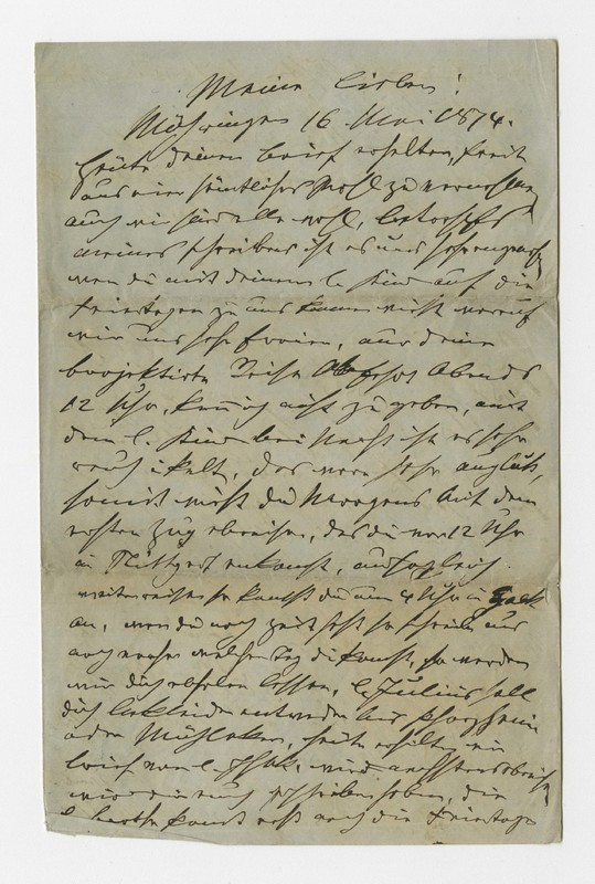 Schweitzer family letter, May 16, 1874
