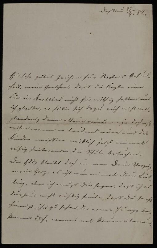 Anna Oppenheim to Margarethe Raster and Hermann Raster, April 25, 1882