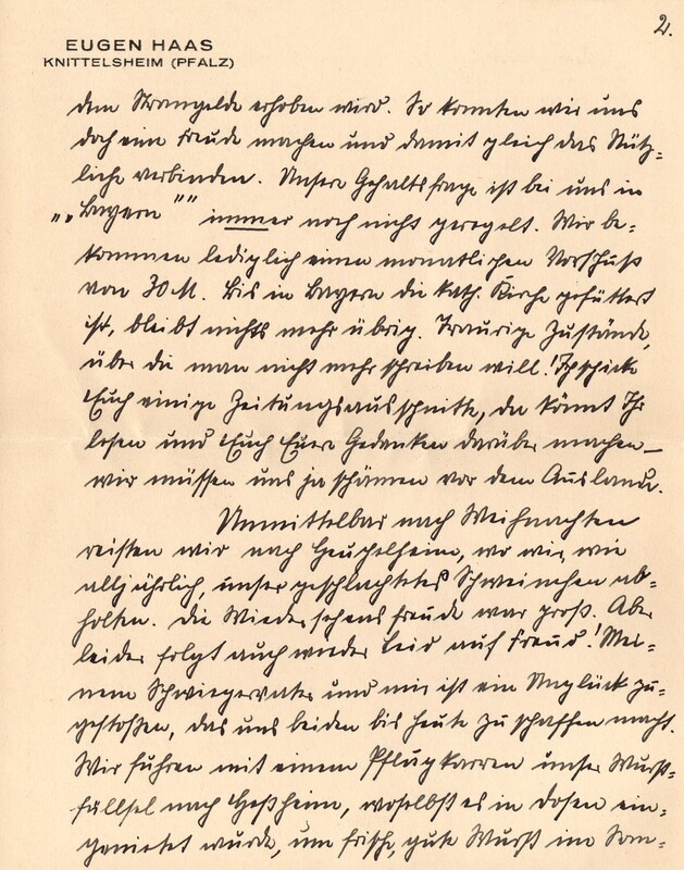 Eugen and Lisbeth Haas to Eugen Klee, March 4, 1928, p. 3