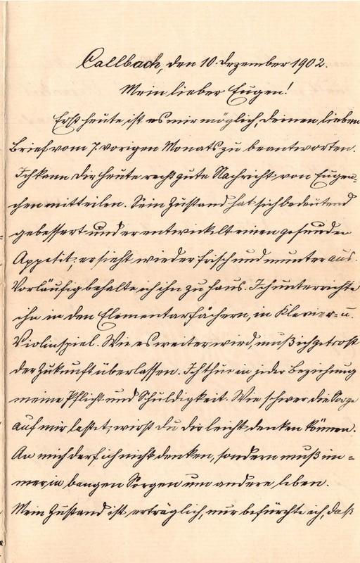 Heinrich Haas to Eugen Klee, December 10, 1902