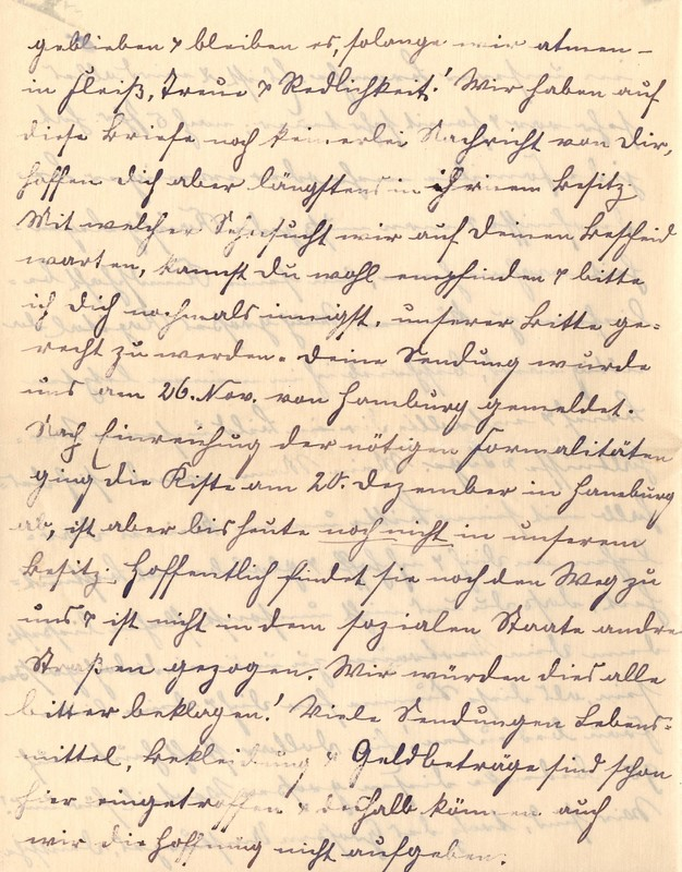 Lenchen Berdel to Eugen Klee, February 1, 1920, p. 4