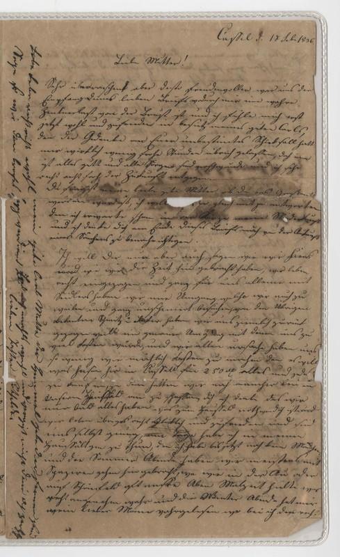 Clothilde Crede to Margarete Clasen, March 20, 1836
