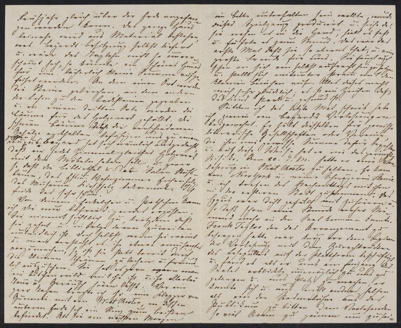 Marie Hansen Taylor to Lina Hansen, November 25, 1858, p. 2 and p. 3
