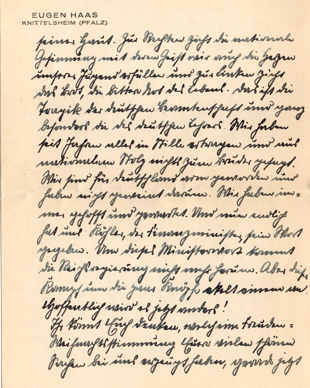 Eugen and Lisbeth Haas to Eugen Klee, December 15, 1927, p. 3