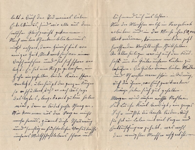 Lenchen Cherdron to Eugen Klee, November 24, 1922, p. 2 and p. 3