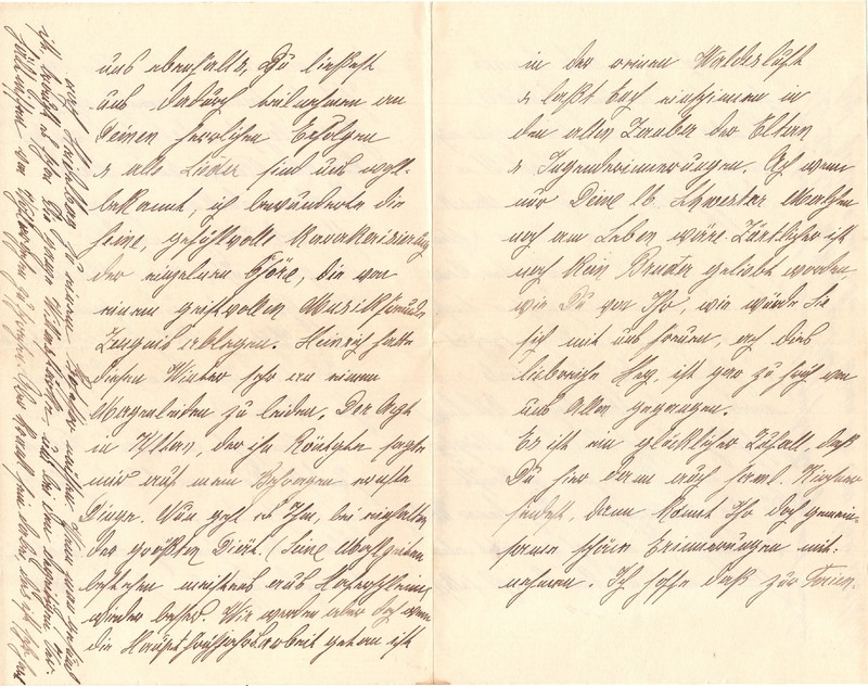 Mathilde Rettig to Eugen Klee, April 11, 1921, p. 5 (right-hand side) and p. 8 (left-hand side)
