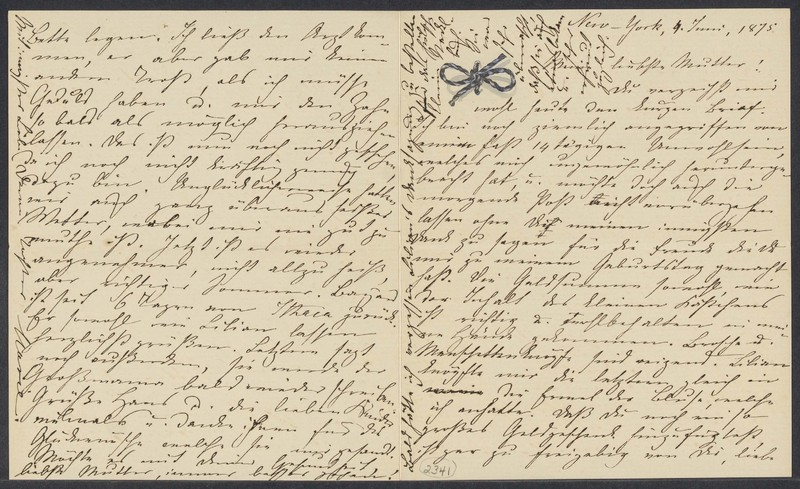 Marie Taylor to Lina Hansen, June 4, 1875
