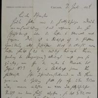 Hermann Raster to Sophie Raster, July 7, 1874, p. 1