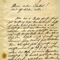 Heinrich Schlue to Ernst Schlue, July 16, 1907, page 1